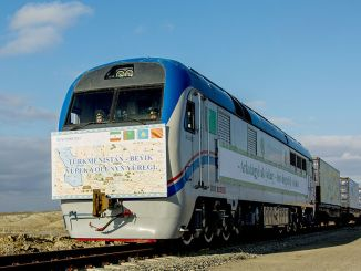china turkmenistan new railroad route opened