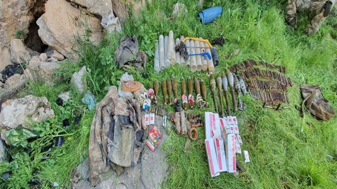 Pkkya ammunition was seized in cukurca and week
