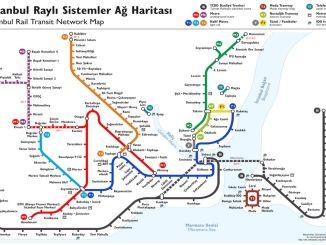 istanbul-metrokartta ja pysähtyy
