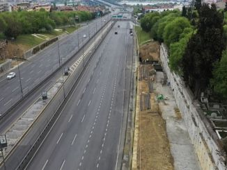 Pedestrian overpasses of Istanbul are being renewed