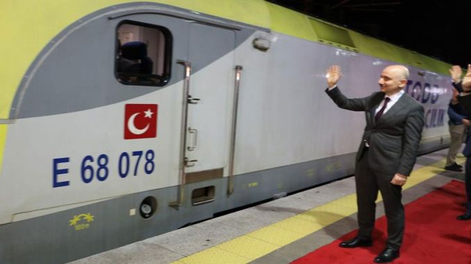 The first domestic freight train passed from marmaray