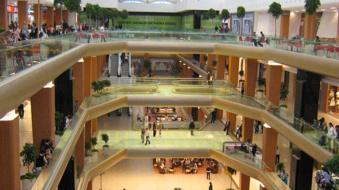 How many shopping malls turkiyede
