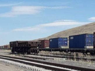 The export train, which signed a new record, set off from Kars