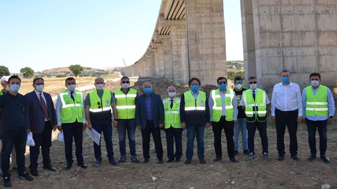 Works on ankara izmir yht line continue at full speed