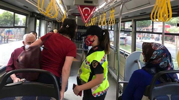 Strict control in public transport in Antalya