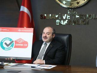 minister introducerer varank covid sikkert produktionscertifikat logo