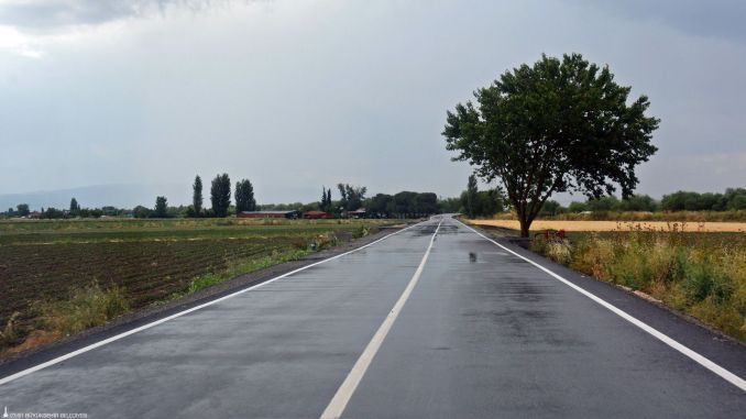 kilometer production road was built for Bergama