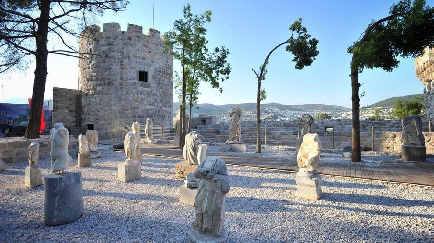 bodrum kalesinin ikinci etabi ziyarete acildi
