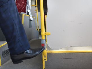 foot button transfer in btt buses