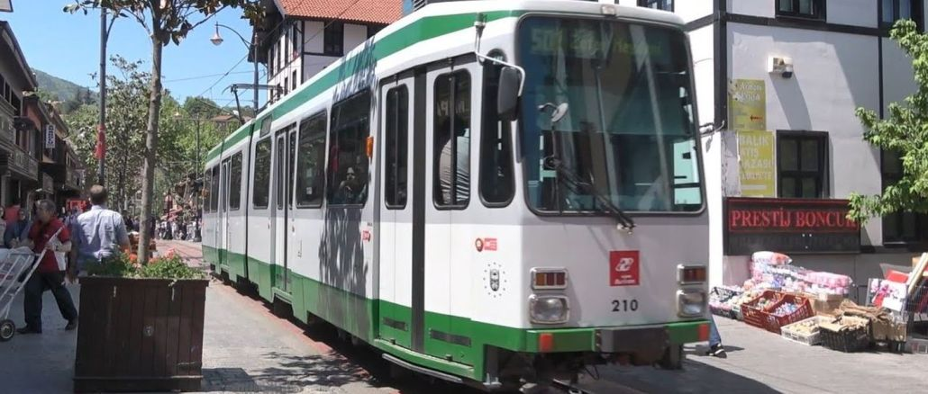 the lifting of the bursa t nostalgic tram line is on the agenda