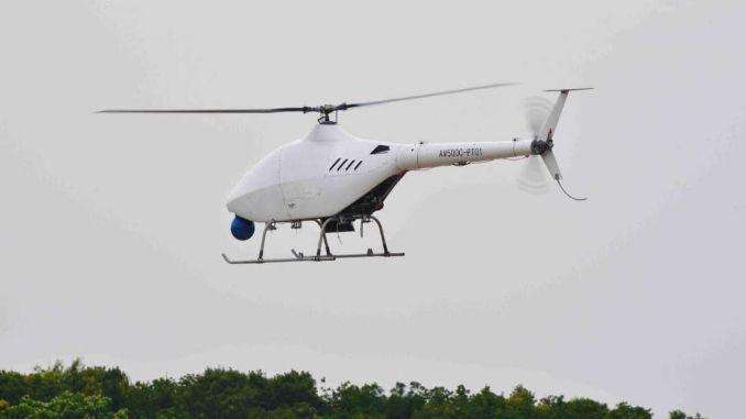 Genie unmanned helicopter flew for the first time