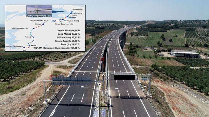 Stambulo izmiro greitkelio maršrutas ir rinkliava