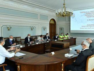 Reunión crítica de transporte en la gobernación de Estambul