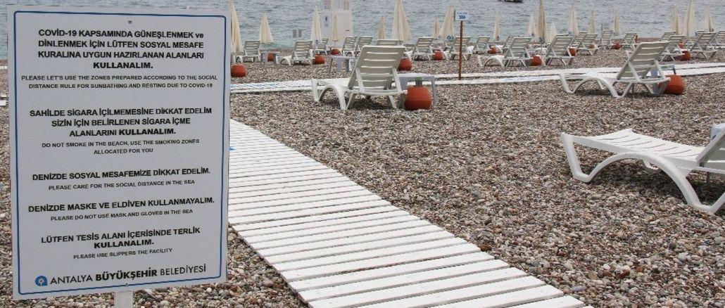 konyaalti sahili tatilcileri bekliyor