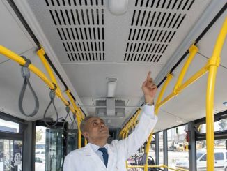 Air conditioners are not operated on buses within the scope of coronavirus measures in Mersin.