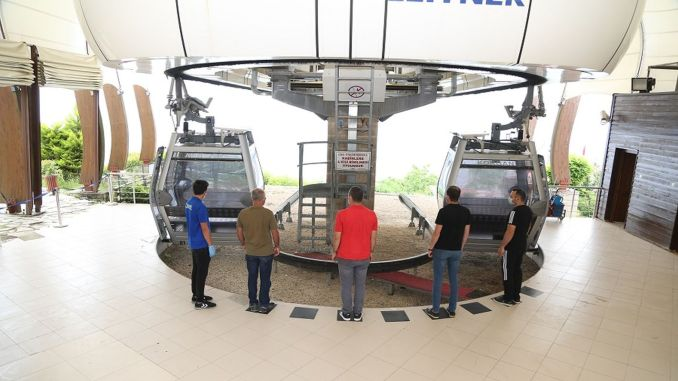 the cable car facility and the reverse house in the army are opened to service with new measures