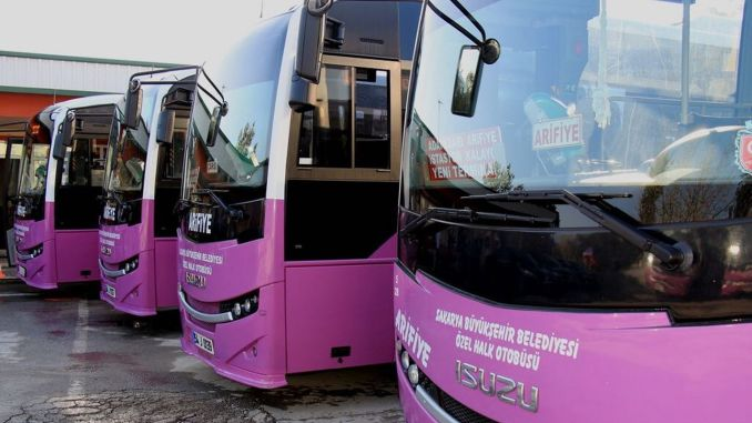 New period starts on Monday in Sakarya Private Public Buses