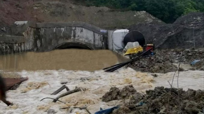 Yht tunnel built between sapanca dogancay flooded
