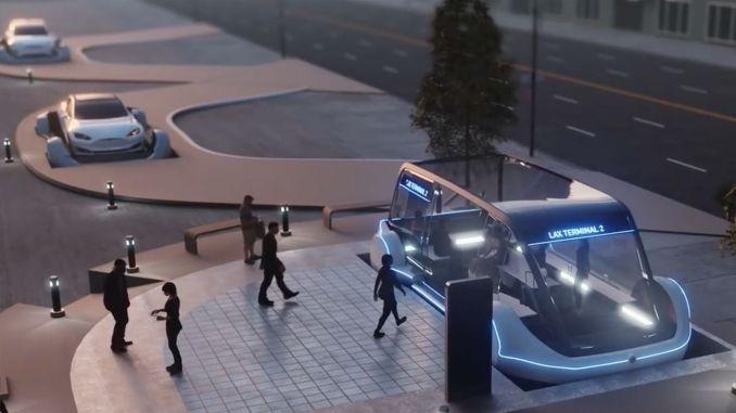 tesla boringin starts electric wagon production for underground tunnels