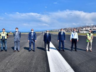 Flights started again at Trabzon airport