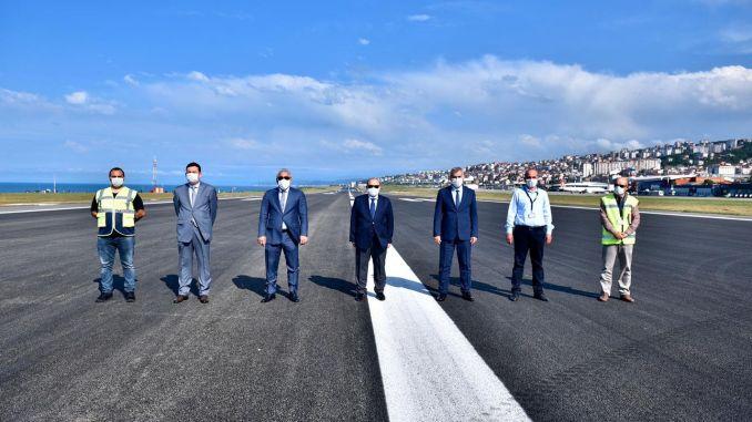 Flights started again at Trabzon airport