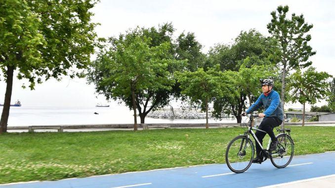 주지사가 Yerlikaya의 세계 자전거의 날에 마일리지를 발표했습니다