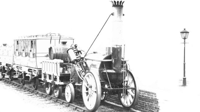 George Stephenson worked as a steam locomotive named Rocket