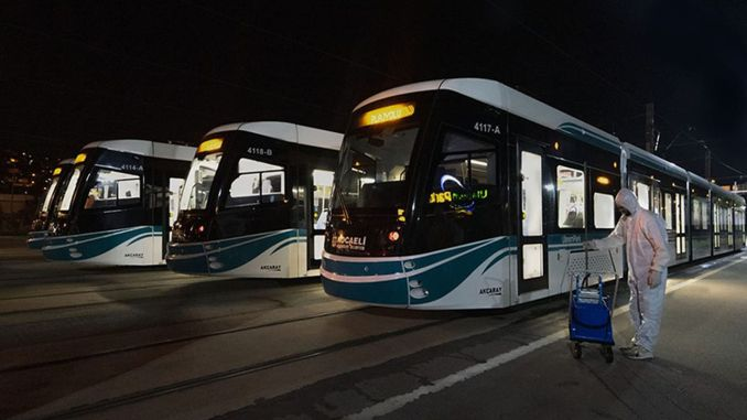 Akçaray Tram and Buses Ready for the Holidays