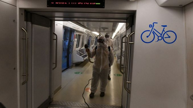 hygiene activities continue in public transport vehicles in Ankara
