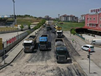 Road Construction and Asphalt Works Continue 7/24 in Ankara