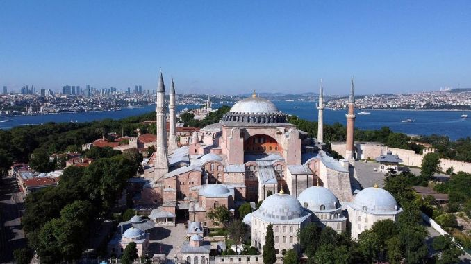 The first prayer in Hagia Sophia will be held in July