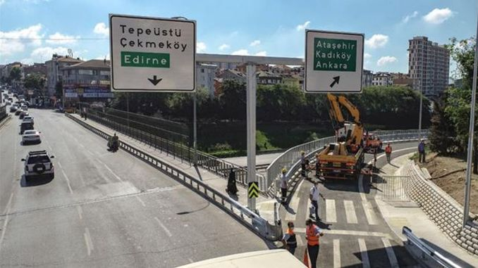 cakmak tem connection road opened