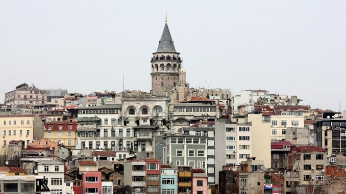 the wooden dome of the galata tower burned