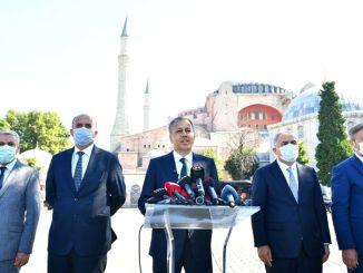 Isztambul kormányzója elmagyarázta a hagia sophia mecset vészhelyzetére vonatkozó intézkedéseket