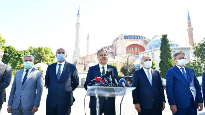 Istanbul governor explained the measures taken for the emergency of the mosque of Hagia Sophia