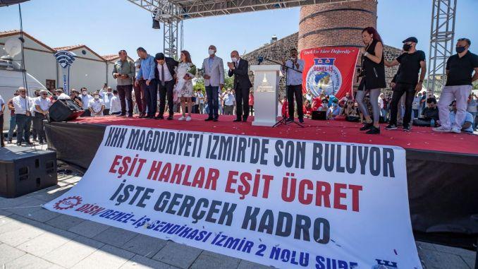 A KHK munkavállalói szociális jogokat kapnak Izmirben