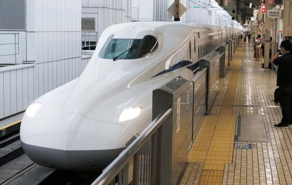 Japan's new generation shinkansen ns high speed train makes its first flight