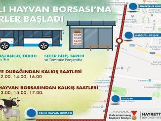 Layanan bus pertukaran hewan hidup Kahramanmaras dimulai