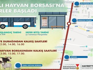 Kahramanmaras live animal stock exchange bus services started