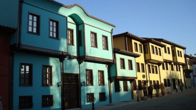über Odunpazari Häuser