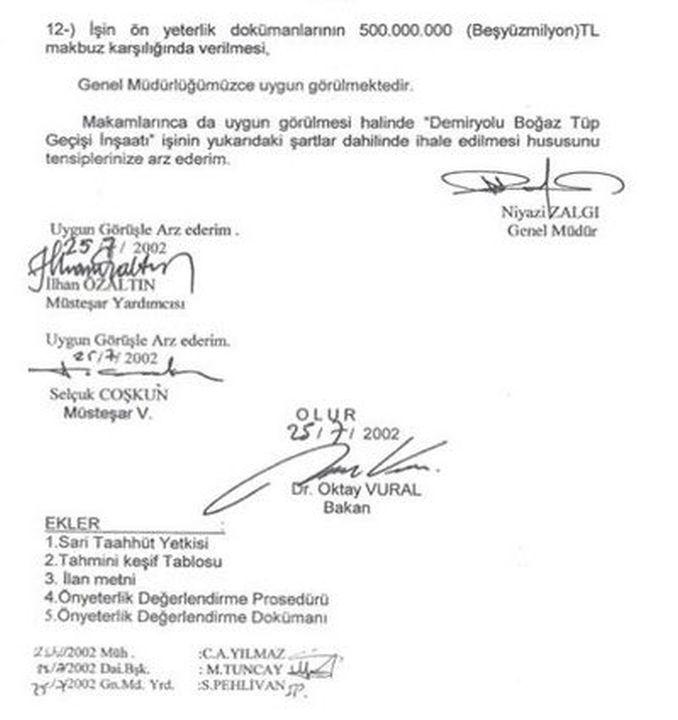 oktay vuraldan documents with marmaray gercegi