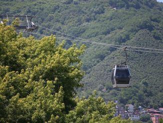 Kereta gantung Boztepe dan rumah terbalik di ketentaraan dibuka lagi