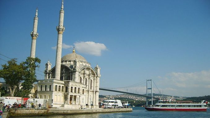 Ortakoy mosque about big mosque