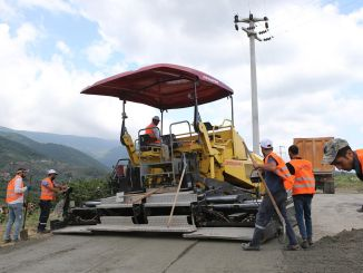 kilometer concrete road works started in sakarya