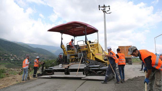 kilometer concrete road works started in sakarya