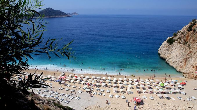 vacation plan makes the cleanest beach of attention turkiyenin