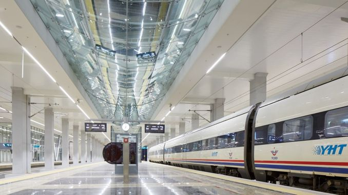 ankara train terminal, which has been banned from getting on trains
