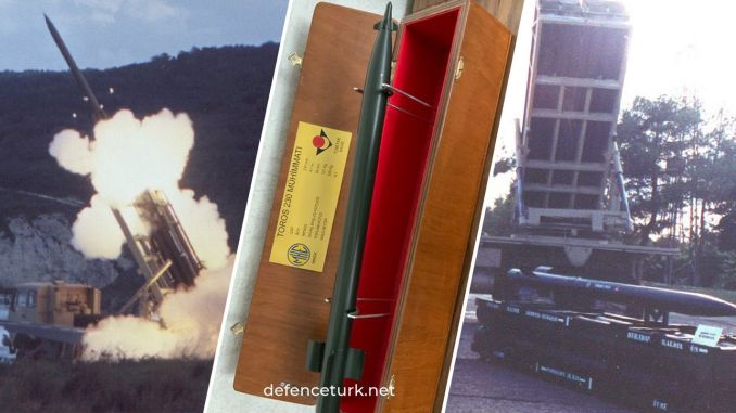 turkiyenin first local and national artillery rocket system toros