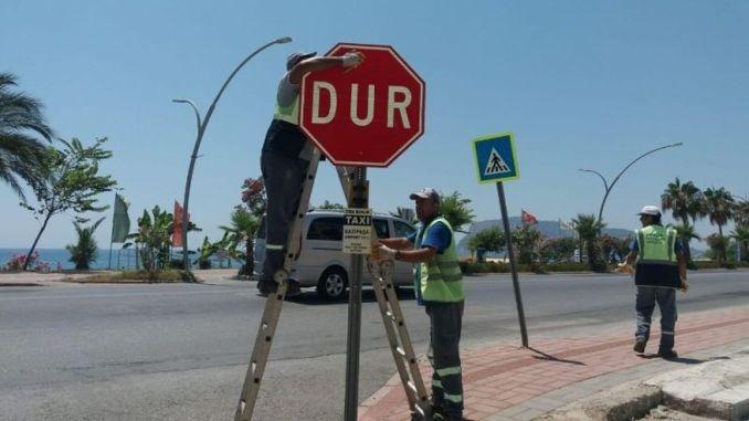 Obnovljeni saobraćajni znakovi u Alanji