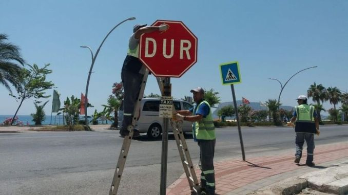 Traffic Signs Renewed in Alanya